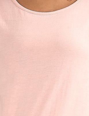 Cherokee Raw Edge Trim Slub T-Shirt