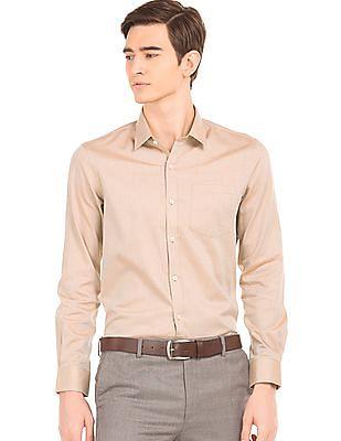Arrow Herringbone Weave Slim Fit Shirt