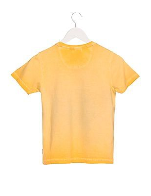 FM Boys Boys Regular Fit Round Neck T-Shirt