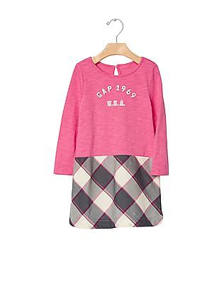GAP Baby Mix Fabric Dress