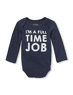 The Children's Place Baby Long Sleeve Graphic Body Suit