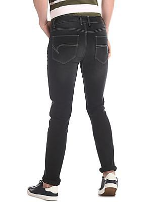 Cherokee Black Skinny Fit Stone Wash Jeans