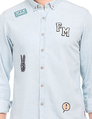 Flying Machine Slim Fit Denim Shirt