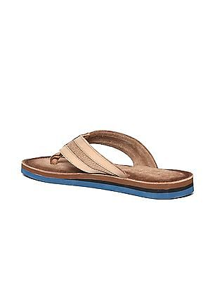 U.S. Polo Assn. Broad V-Strap Textured Sandals