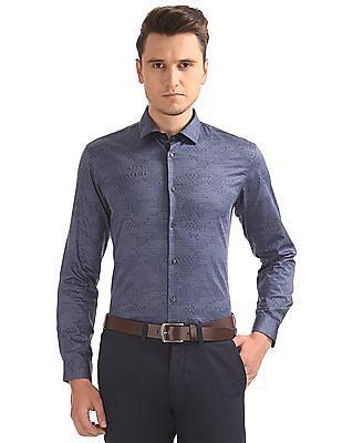 Arrow Newyork Abstract Print Skinny Fit Shirt