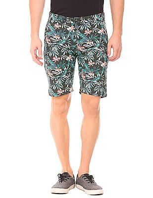 Ed Hardy Tropical Print Slim Fit Shorts