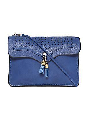 SUGR Blue Cutwork Sling Bag