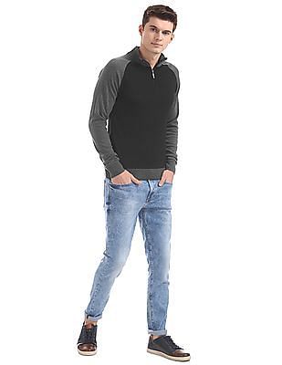 Ruggers High Neck Colour Blocked Sweater