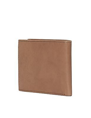 Flying Machine Brown Bi-Fold Leather Wallet
