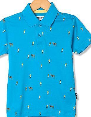 U.S. Polo Assn. Kids Boys Standard Fit Printed Polo Shirt