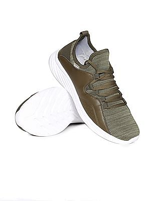 Flying Machine Contrast Sole Panelled Sneakers