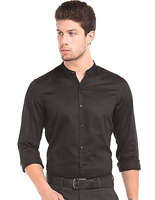 Elitus Slim Fit Mandarin Collar Shirt
