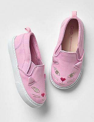 GAP Baby Kitten Slip On Sneakers
