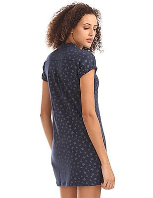 Elle Paisley Print T-Shirt Dress