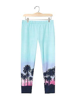 GAP Girls Multi Colour Print Crop Leggings