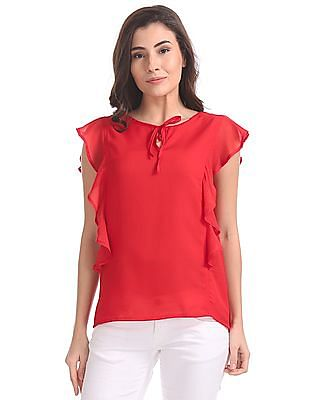 SUGR Flutter Sleeves Tie Up Top