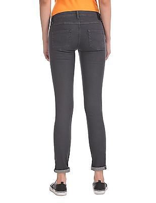 Flying Machine Women Twiggy Super Skinny Fit Washed Jeans