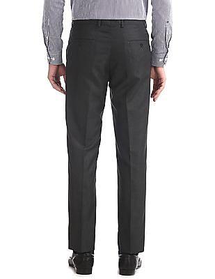 Excalibur Grey Mid Rise Slim Fit Trousers
