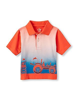 The Children's Place Toddler Boy Short Sleeve Summer Graphic Polo