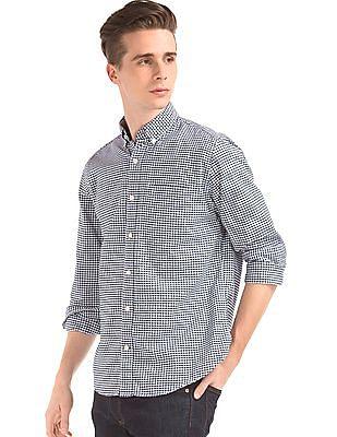 GAP Oxford Micro Gingham Standard Fit Shirt