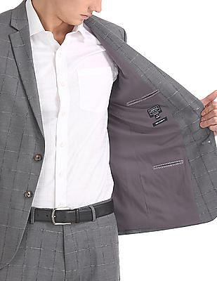 Arrow Newyork Slim Fit Checked Suit