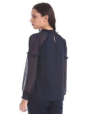 Elle Studio Raglan Sleeve Ruffled Top