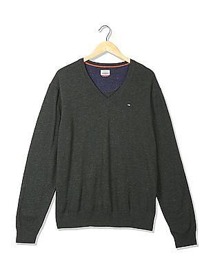 Arrow Sports Regular Fit Solid Sweater