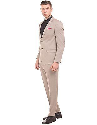 Arrow Textured Two Piece Suit