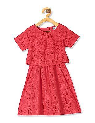 Cherokee Girls Raglan Sleeve Twofer Dress