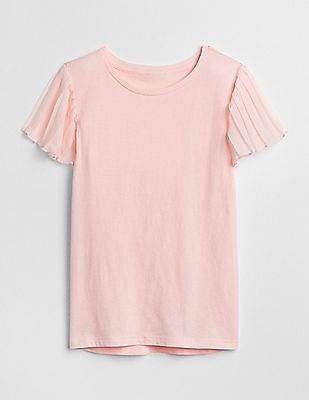 GAP Girls Pleated Short Sleeve T-Shirt