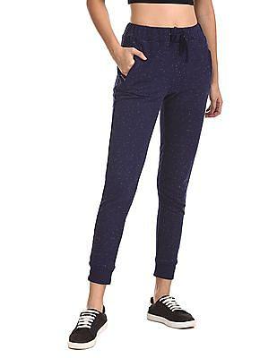 SUGR Blue Zip Pocket Nep Joggers