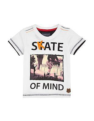 Cherokee Boys Print And Applique T-Shirt