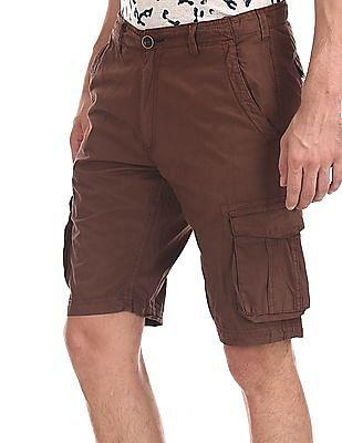 Cherokee Brown Slim Fit Cargo Shorts