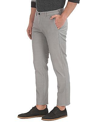 Flying Machine Flat Front Super Slim Fit Trousers