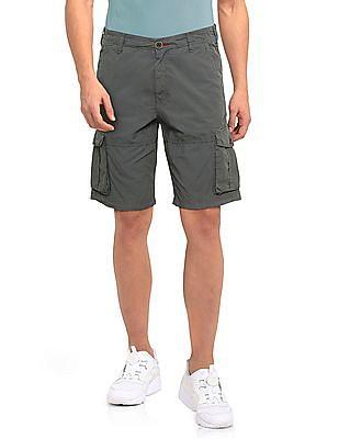 Cherokee Green Solid Cargo Shorts