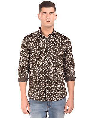 Arrow Floral Print Slim Fit Shirt