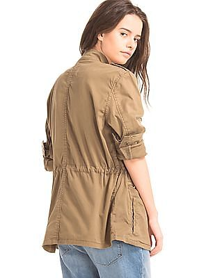 GAP Women Brown Classic Utility Jacket
