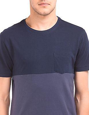 Flying Machine Regular Fit Colour Block T-Shirt