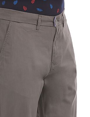 Ruf & Tuf Slim Fit Solid Trousers