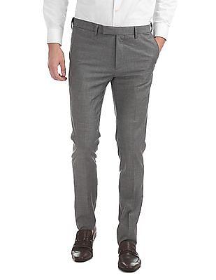 USPA Tailored Super Slim Fit Mid Rise Trousers