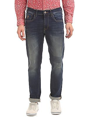 U.S. Polo Assn. Denim Co. Distressed Slim Tapered Fit Jeans