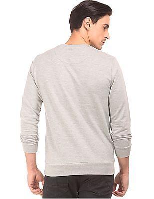 Arrow Sports Printed Crew Neck Sweatshirt
