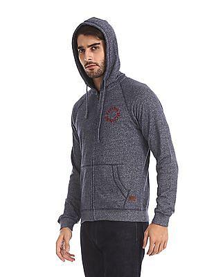 Flying Machine Heathered Hooded Sweatshirt