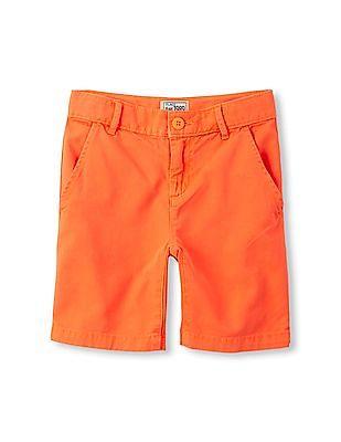 The Children's Place Boys Orange Woven Neon Chino Shorts