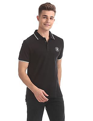 Ed Hardy Slim Fit Solid Polo Shirt