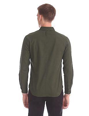 Cherokee Solid Cotton Shirt
