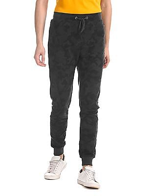 Colt Grey Zipper Pocket Camo Print Joggers