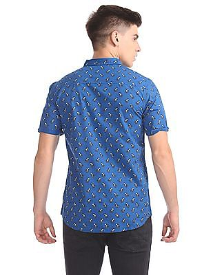 Colt Comfort Slim Fit Printed Shirt