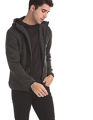 U.S. Polo Assn. Grey Heathered Hooded Sweatshirt