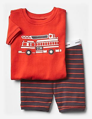 GAP Baby Firetruck Short Sleep Set